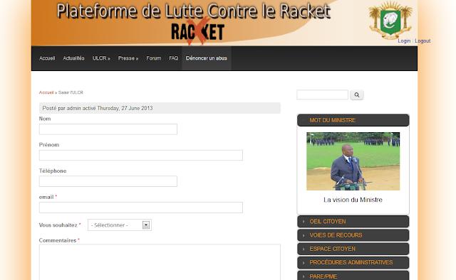 stopracket.gouv.ci , pour lutter contre le racket en Côte d'Ivoire, A Unix Mind In A Windows World