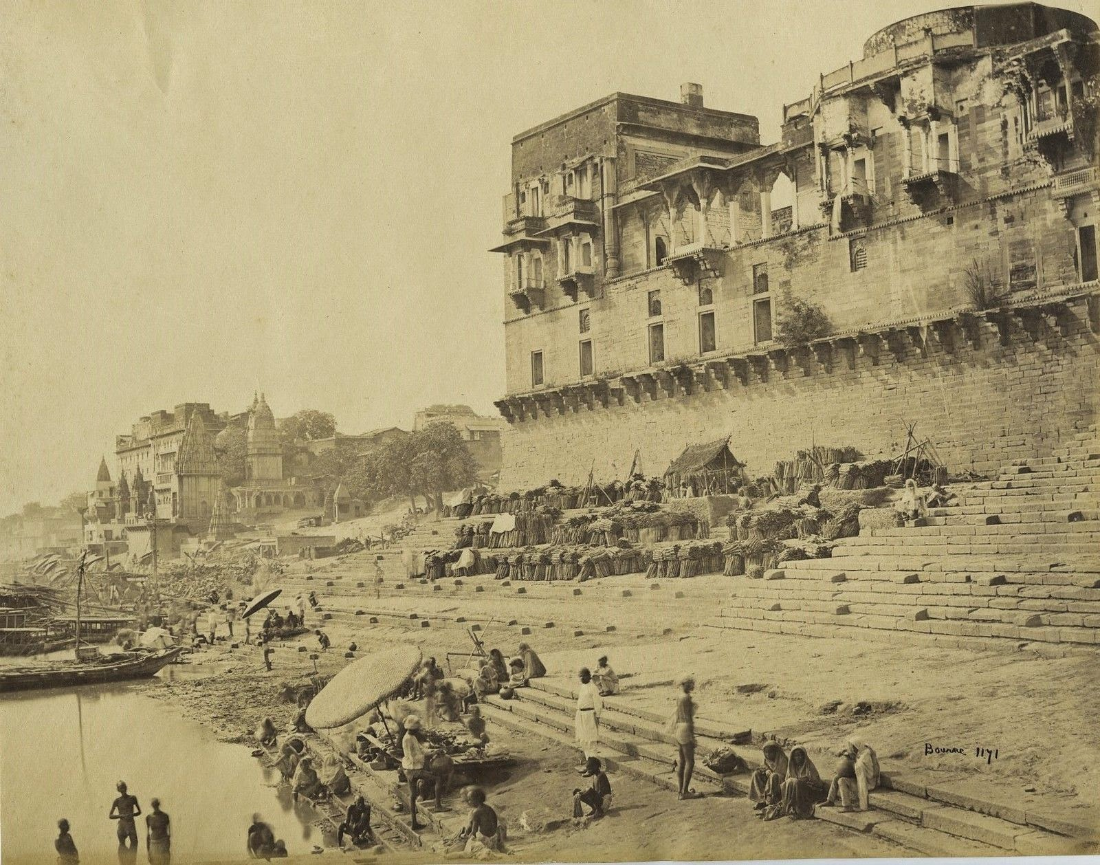 Varanasi Ghats, Temples and Architechtures - c1870's