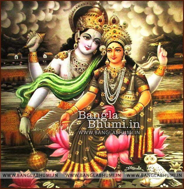 Mata Laxmi Narayan Super Indian God HD Poster Wallpaper Free Download