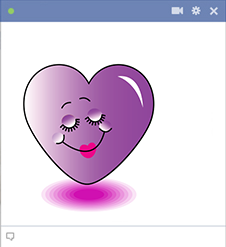 Pretty purple heart emoticon
