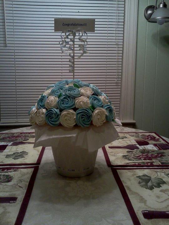 Dana\'s Cake Creations: Baby Shower Cupcake Flower Pot