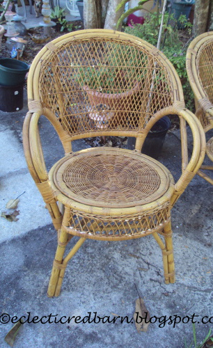 repaired wicker chairs