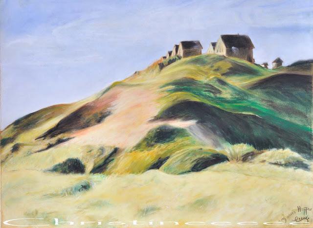 L 39 ardoise magique maisons dans les dunes facon hopper - Edward hopper maison ...
