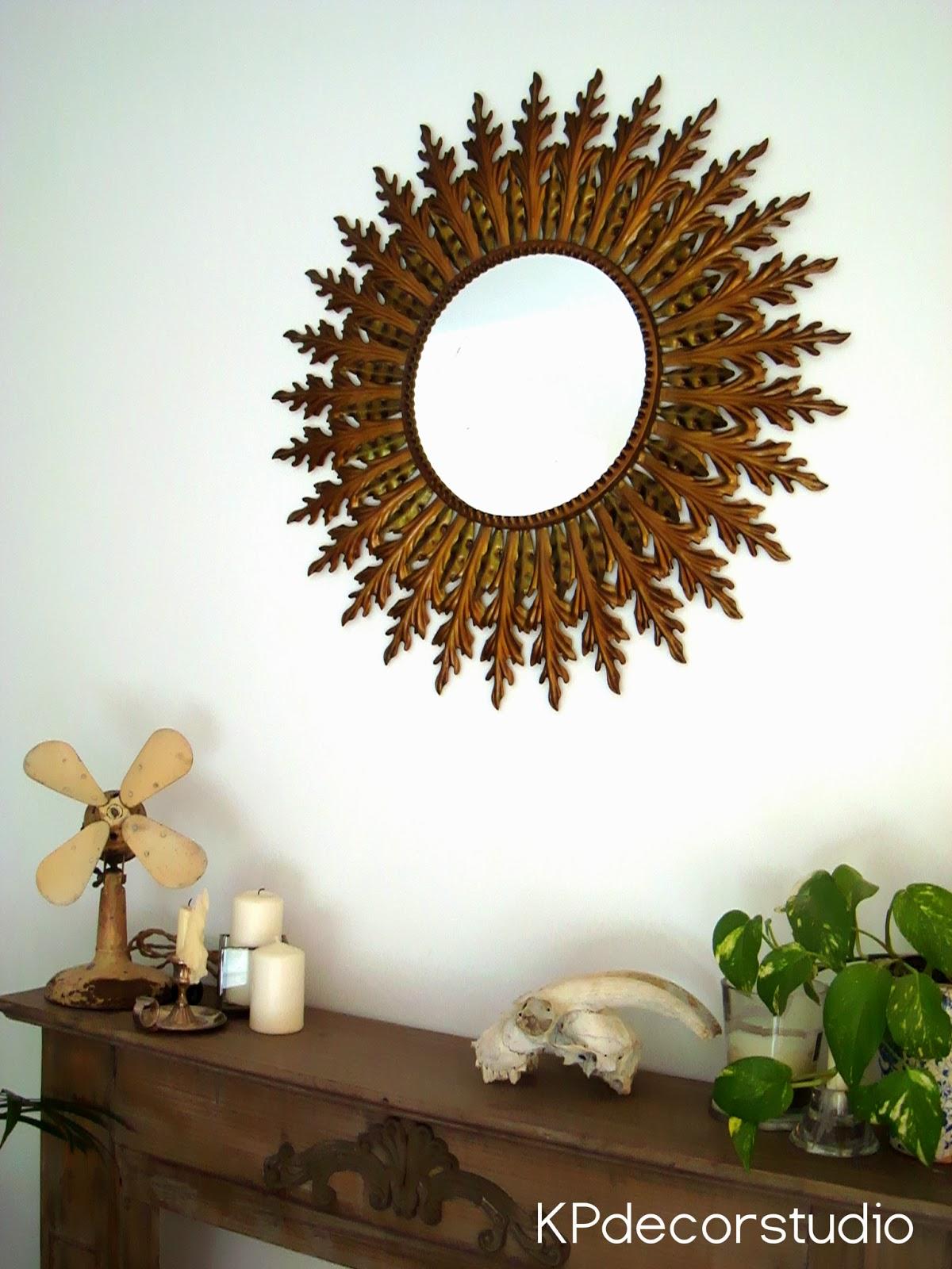 Kp tienda vintage online espejo sol antiguo vintage - Espejos antiguos de pared ...