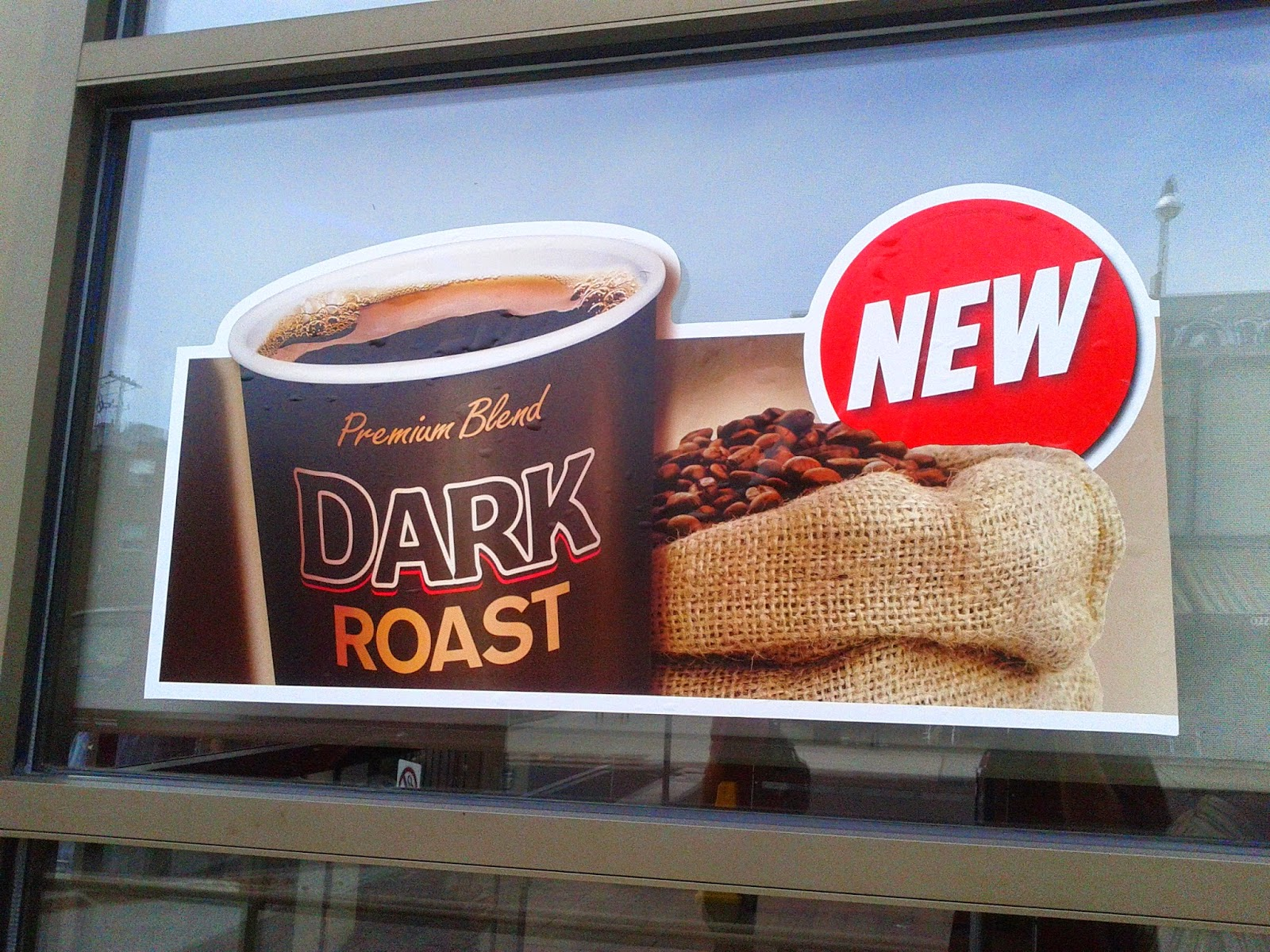Tim Hortons dark roast coffee