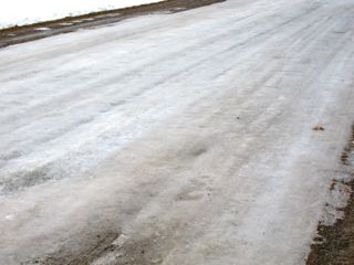 photo of ice covered road
