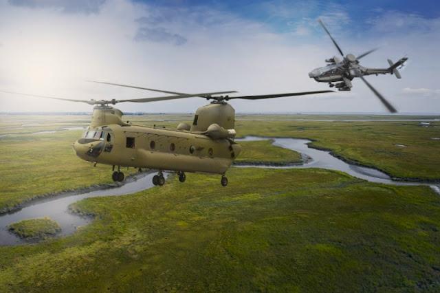 India recibirá 22 helicópteros de ataque AH-64E Apache y 15 helicópteros de carga pesada CH-47F Chinook. Ambos son los modelos más recientes de las aeronaves.
