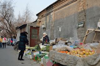 Beijing hutong fruit vendor