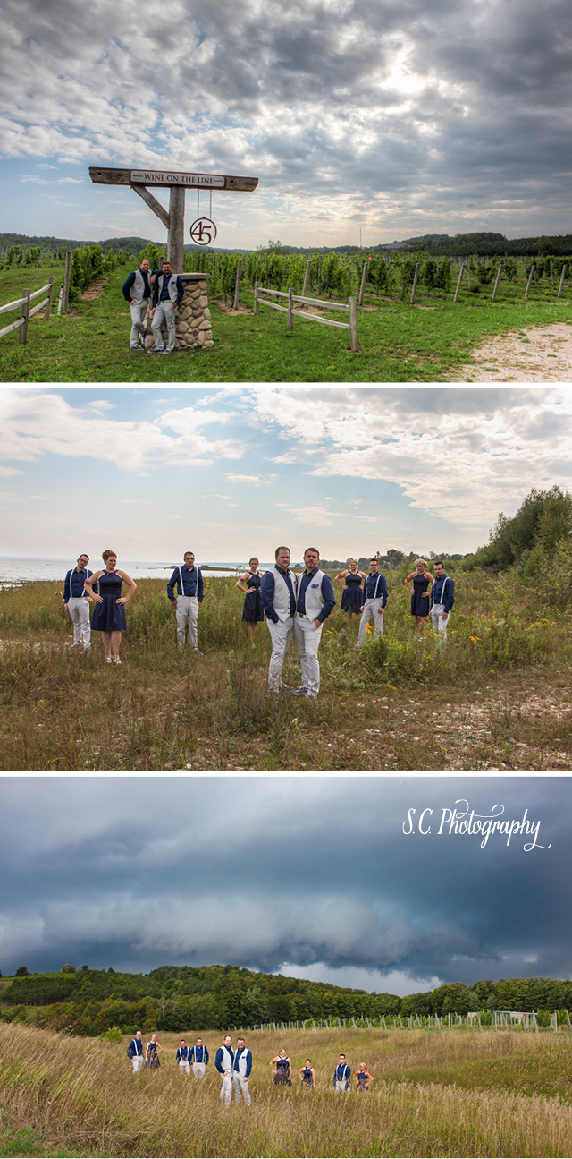 Forty-Five North Vineyard Wedding, Gay Michigan Wedding, S.C. Photography, Traverse City