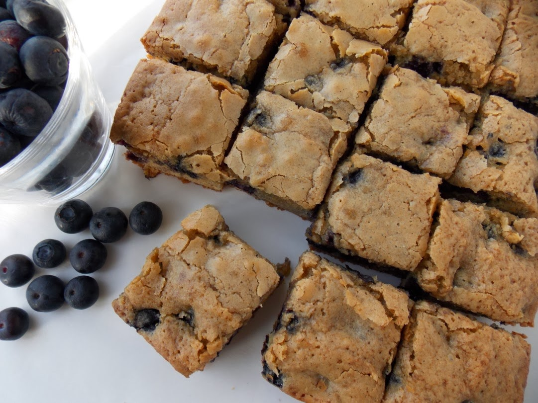 blondie and a blueberry muffin, these Blueberry Blondies