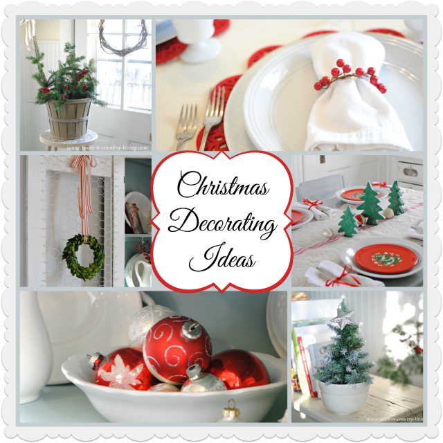 Christmas extravaganza link party french country cottage for Country christmas decorating ideas