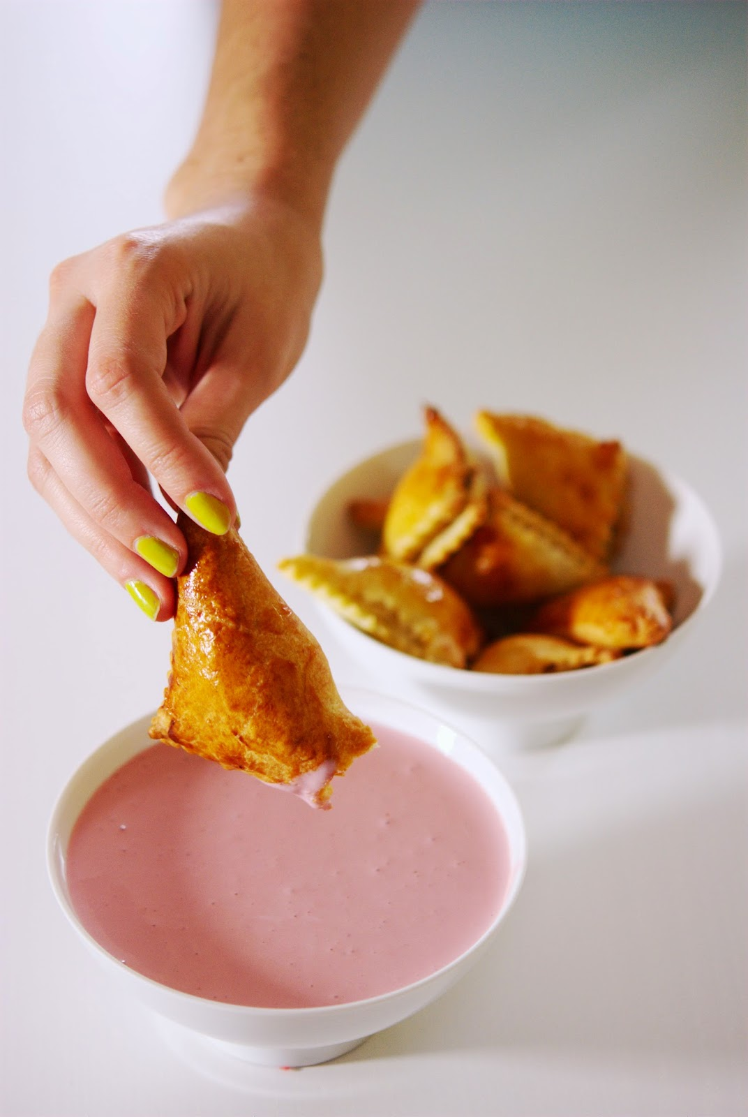 Austrian Pirozhki with Russian beetroot dip