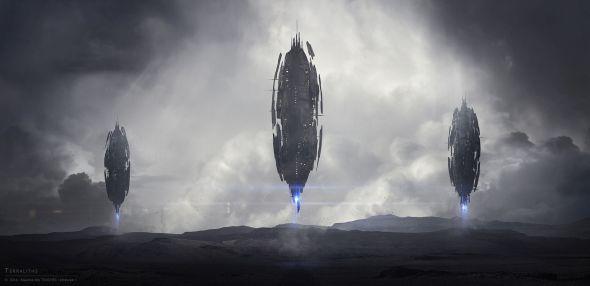 Maxime des Touches aka elreviae ilustrações digitais ficção científica espacial futurista photoshop