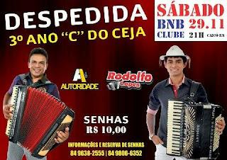 Dia 29 de Novembro tem Festa no BNB Caicó