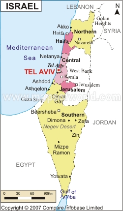 Israel Map Political Regional