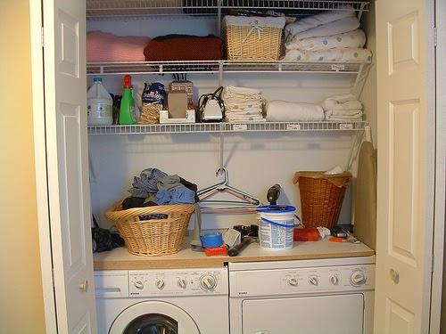 nice laundry closet