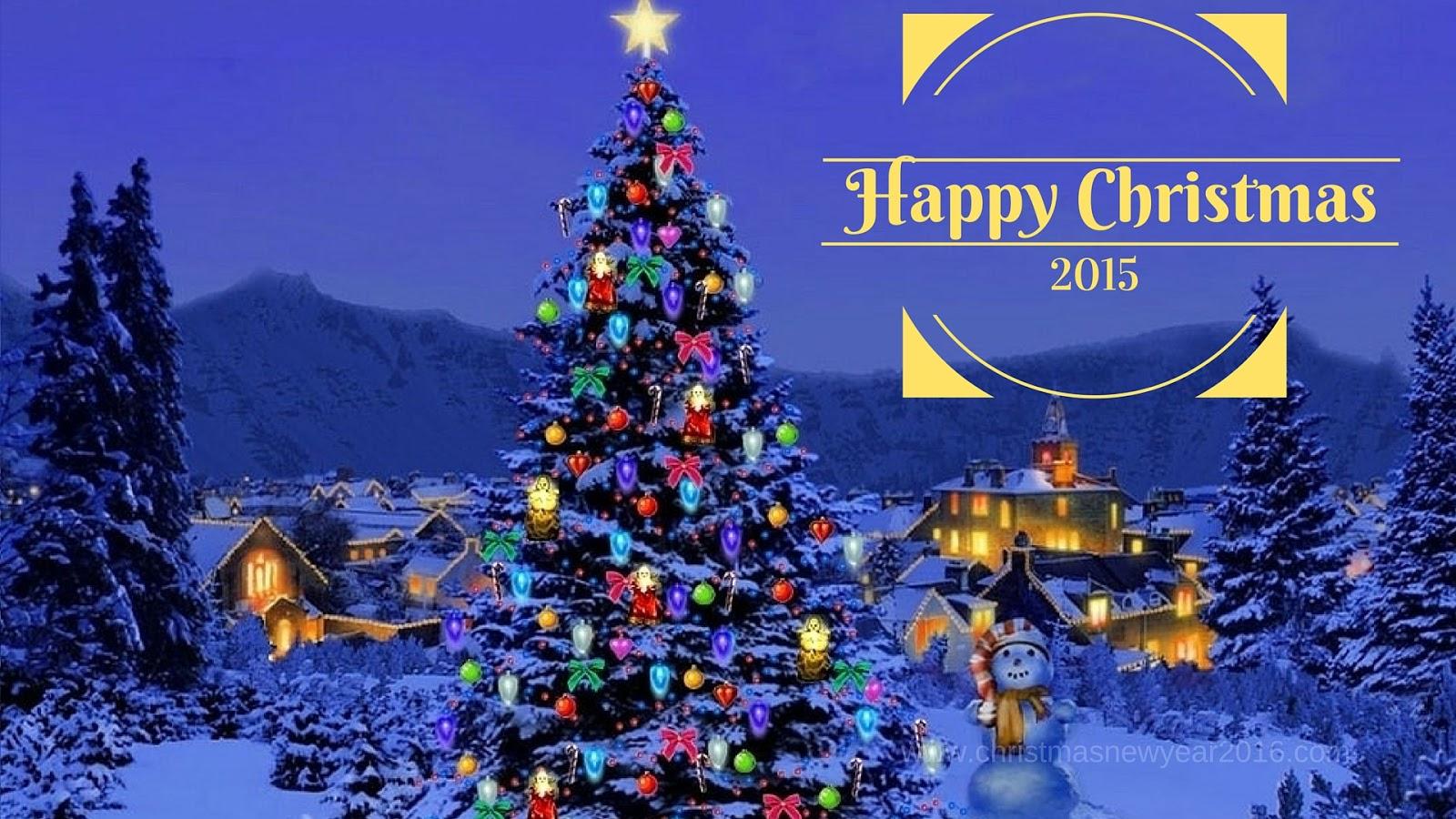 Must see Wallpaper Mountain Christmas - Happy-Christmas-2015-Tree-Bells-Decorations  HD_29049.jpg
