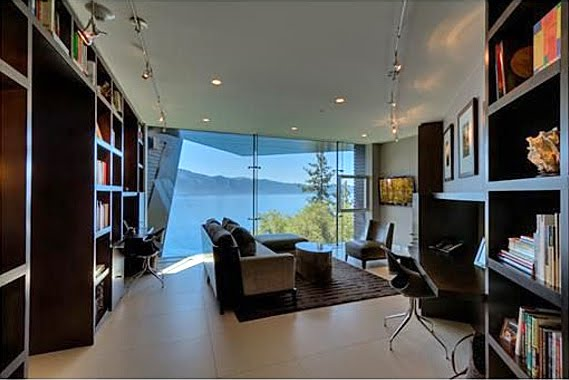 5 Floors Glass Elevator Private Pier Modern Lake House For Sale
