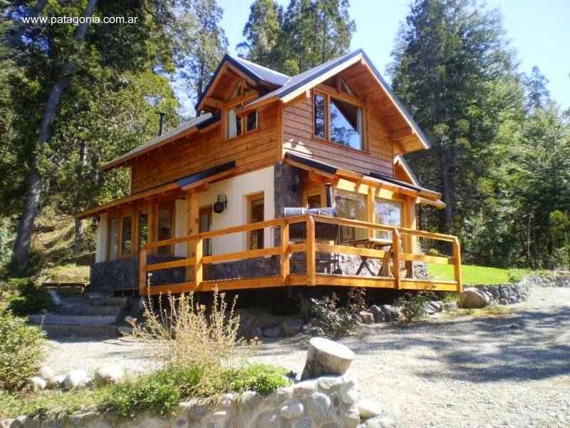 Arquitectura de casas caba as para el turismo en bariloche - Disenos casas rusticas ...