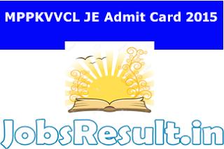 MPPKVVCL JE Admit Card 2015