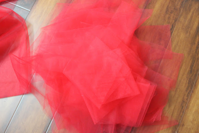 tulle strips cutting tutorial