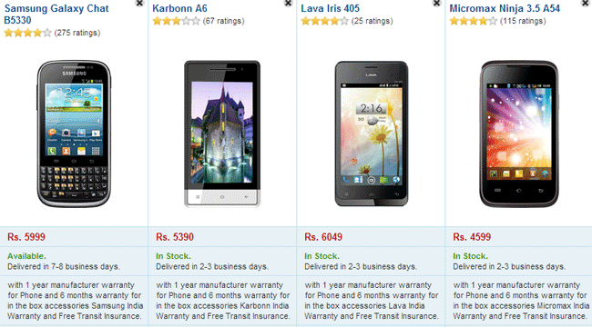 list of micromax android phones below 6000