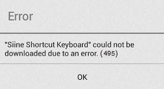 Error 495 Google Play Store