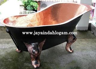 kerajinan tembaga kuningan bathtub