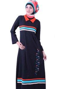Najya Gamis J33 - Hitam (Toko Jilbab dan Busana Muslimah Terbaru)