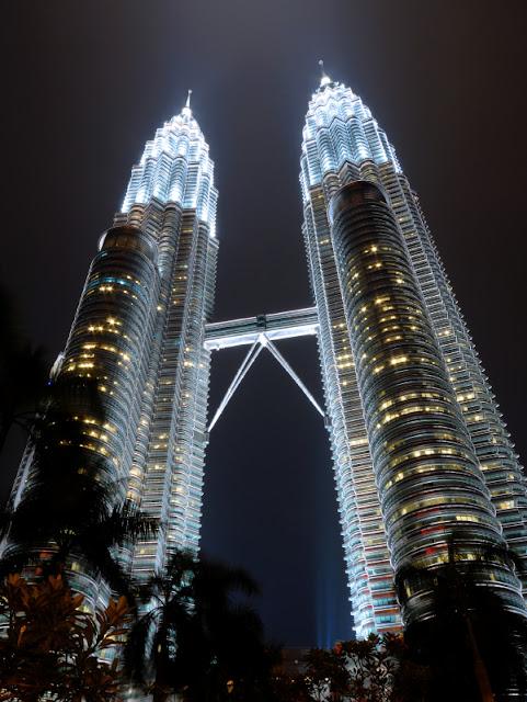 Petronas Towers 1 and 2 in Kuala Lumpur