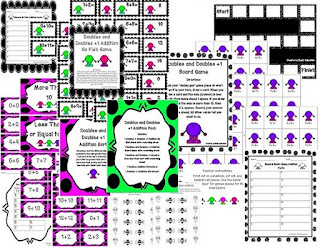 http://www.teacherspayteachers.com/Product/Doubles-and-Doubles-Plus-One-Addition-Centers-and-Activities-703270