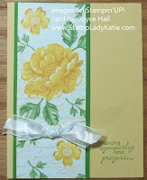 Card made with Stampin'UP! Stippled Blossoms. by StampLadyKatie