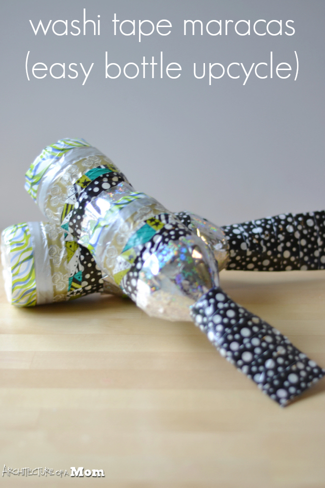 Architecture of a Mom: Washi Tape Water Bottle Maracas