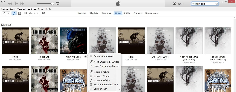 Adicionar músicas do Apple Music