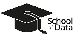 school of data logo - graduation hat and school of data written out as text