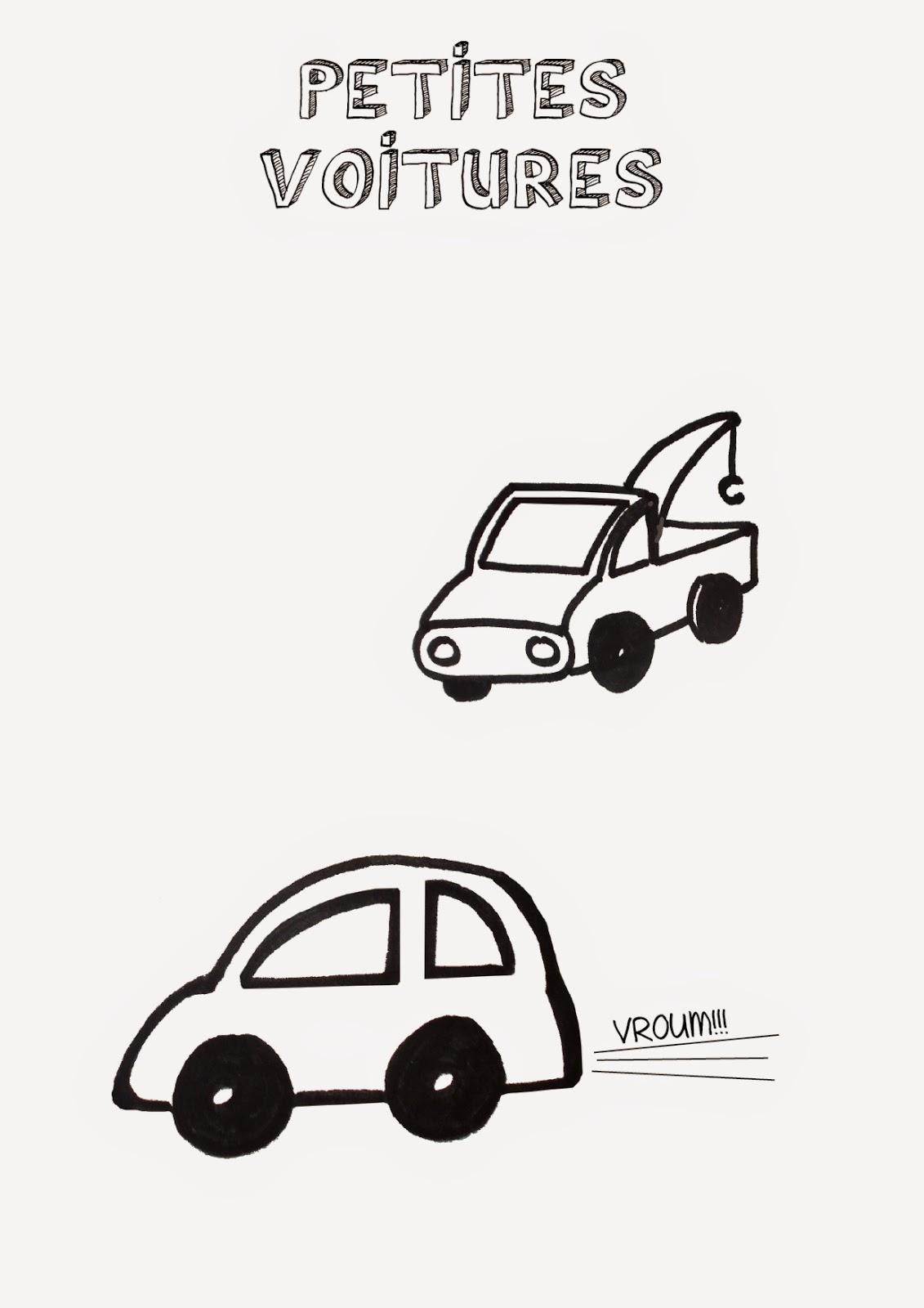 Ranger les petites voitures de son enfant : étiquette à imprimer