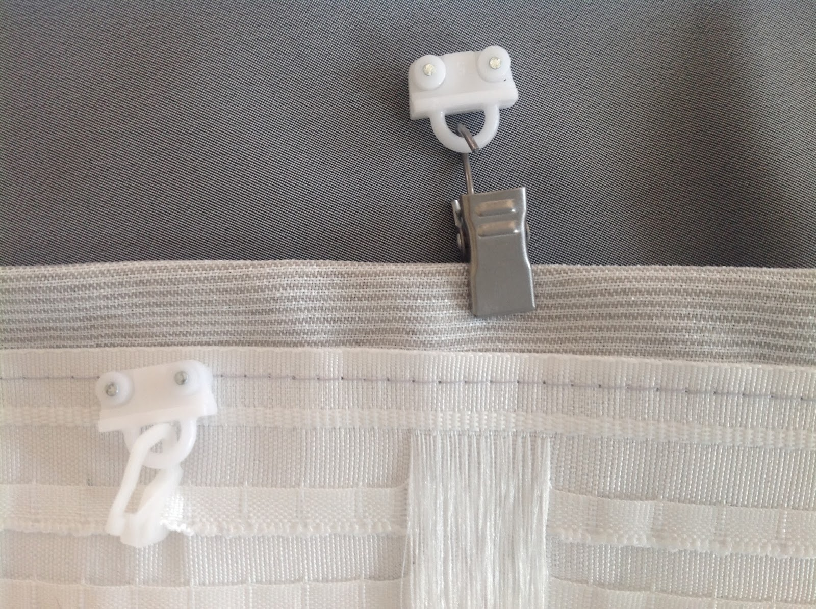 Plastic curtain clips - No Matter Which Style Hooks You Choose All Three Ultimately Have To Hang Onto These Plastic Wheeled Hangers Remember At Phase Ii When I Cautioned To