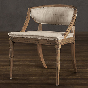 Restoration Hardware Swedish Demi-Lune Chair