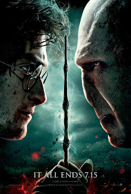 "Harry Potter and the Deathly Hallows: Part 2 ""It All Ends"" Portrait Movie Poster Set - Daniel Radcliffe as Harry Potter & Ralph Fiennes as Lord Voldemort"