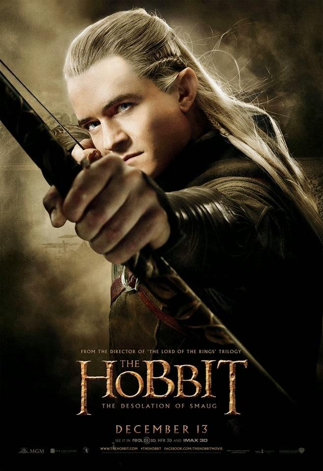 El Hobbit: la Desolación de Smaug - poster final Legolas