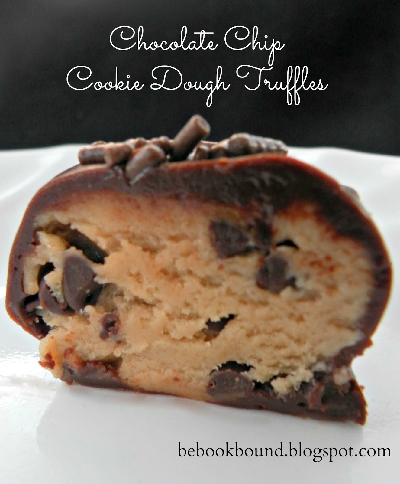 Here is a recipe for Chocolate Chip Cookie Dough Truffles.