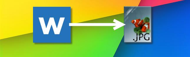 مطور تحويل ملف وورد الى Jpg بدون برامج