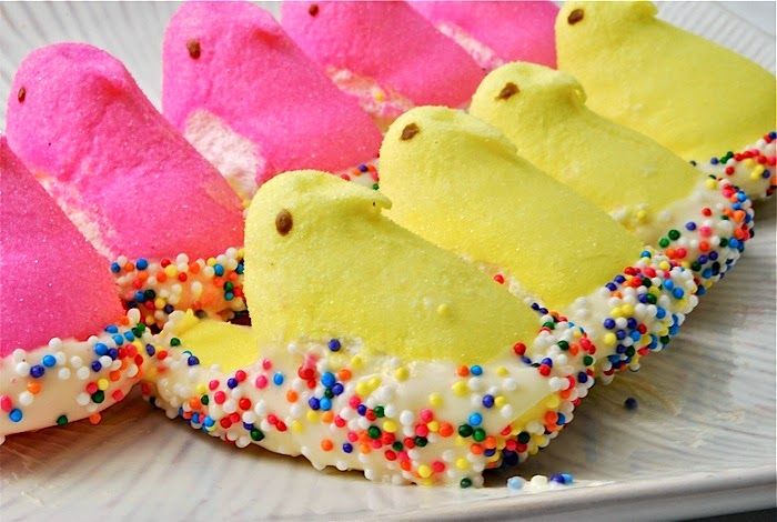 White Chocolate & Sprinkles Covered Peeps Recipe