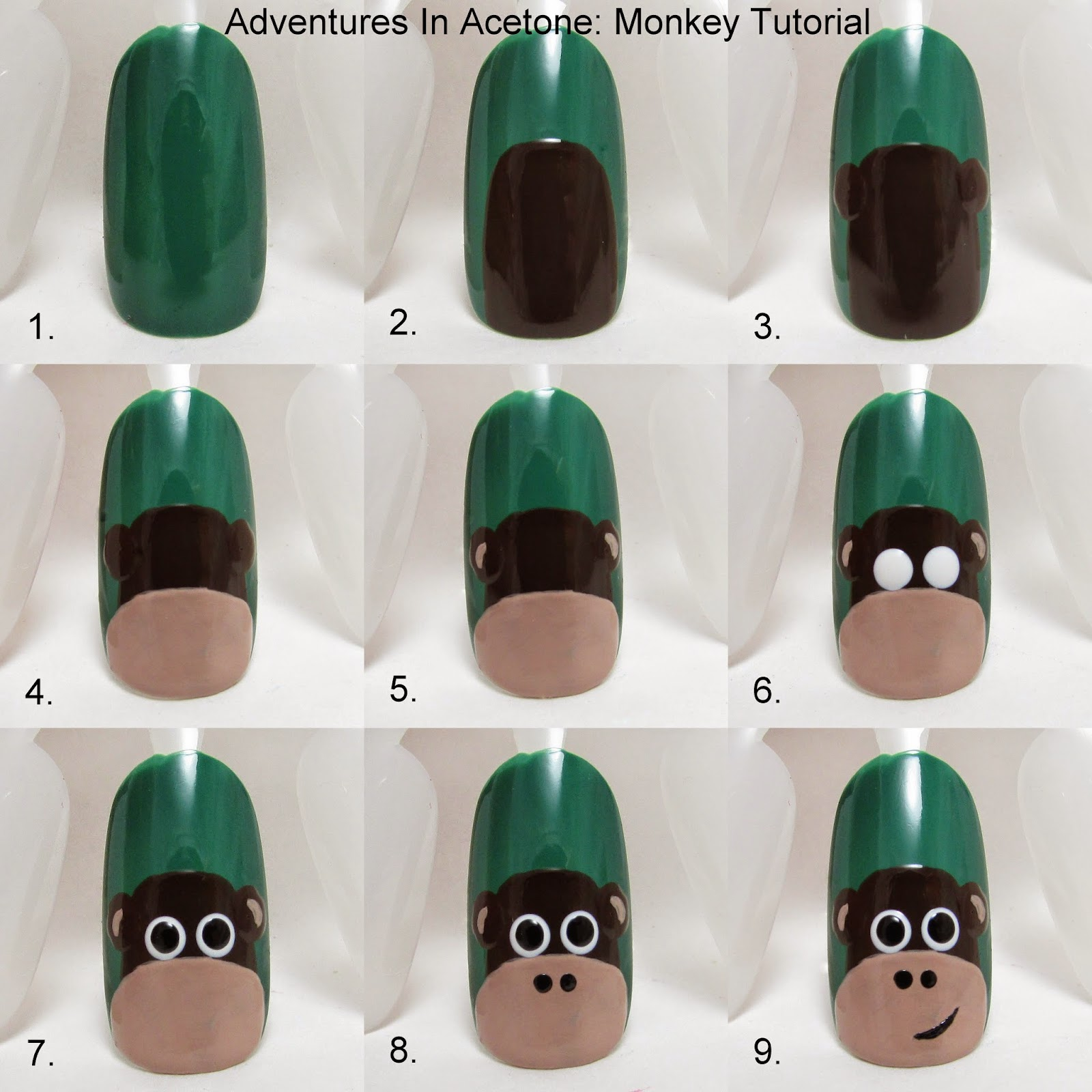 Here is a look at the Zoo Nails where this cute monkey came from: