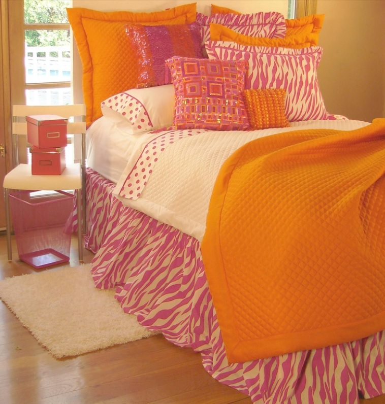 pink zebra bedding