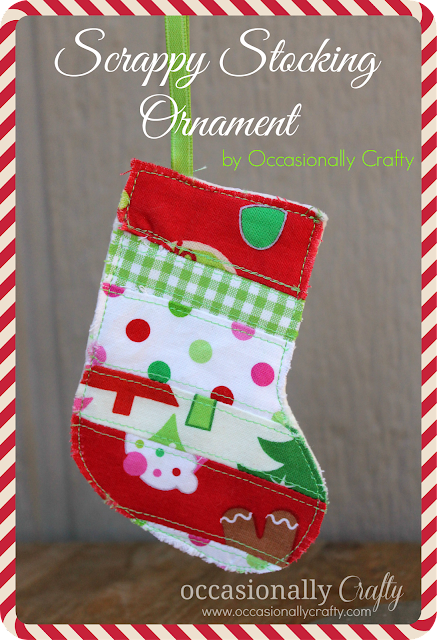 Scrappy Stocking Ornament {25 Days of Christmas}