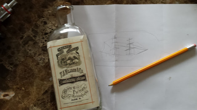 ship in a bottle sketch