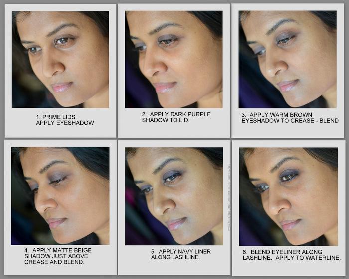 Purple Winter Smokey Eyes Makeup Tutorial How to Steps NARS Brousse Madrague MAC Saddle Urban Decay Sabbath Indian Beauty Blog