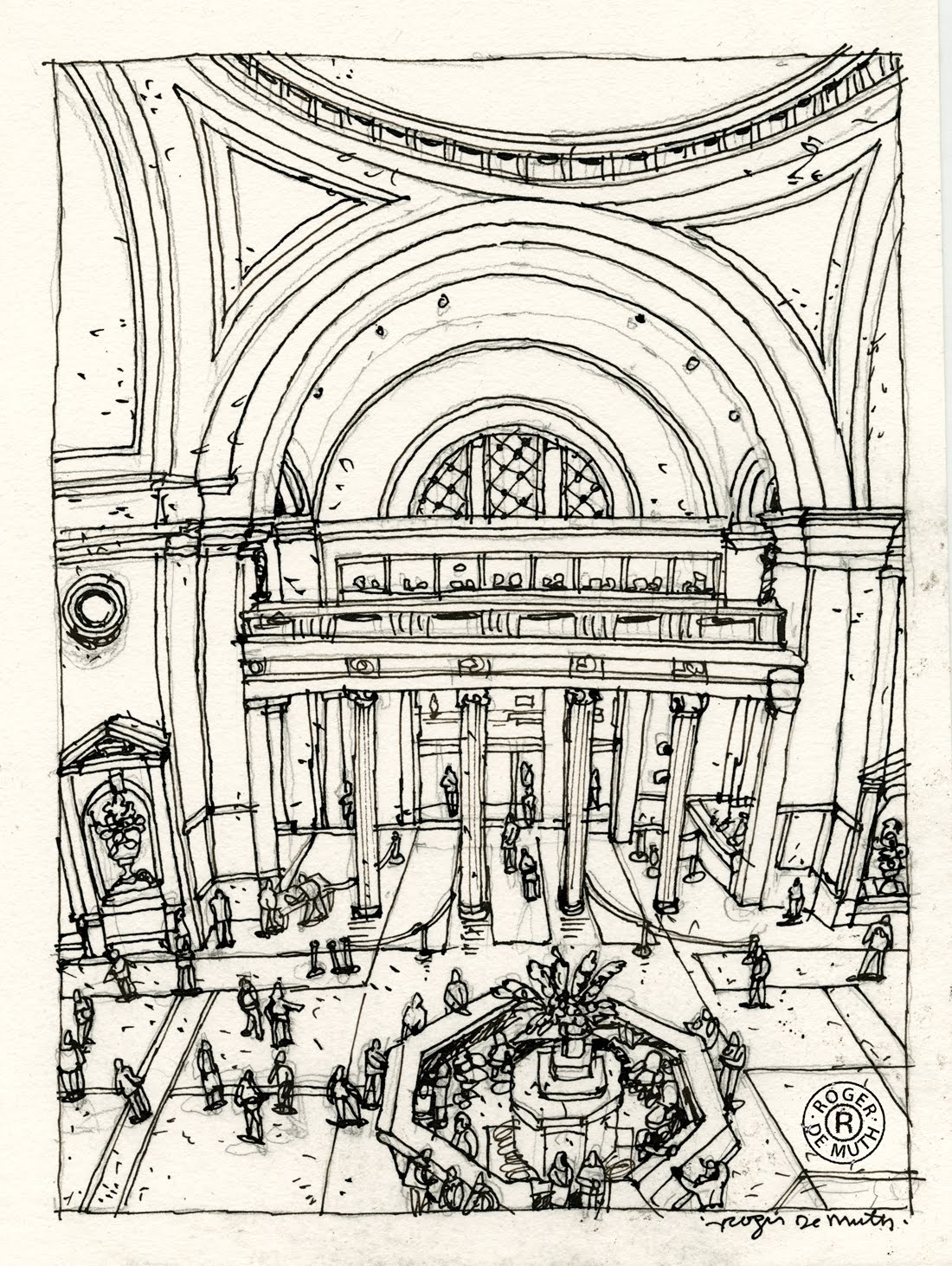 Line Art New York City : This is the sketch for my drawing of interior