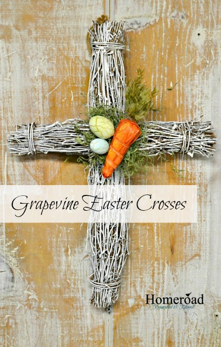 Grapevine Easter Cross Wreath www.homeroad.net